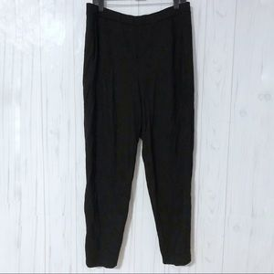 Eileen Fisher Black Comfy Pull-on Pants Size Large